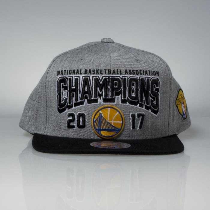 quality design f0353 8d3e4 ... france cap mitchell ness snapback golden state warriors grey black 2017  nba champions 3e566 90fdb