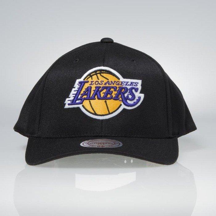 aacd44a13f290 ... Flexfit 110 · Cap Mitchell   Ness snapback Los Angeles Lakers black  Team Logo High Crown Flexfit ...