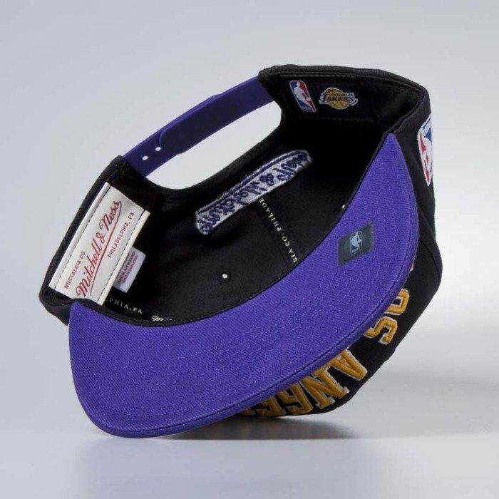 74902ef29ee Cap Mitchell & Ness snapback Los Angeles Lakers black Wordmark Jersey Hook  ...