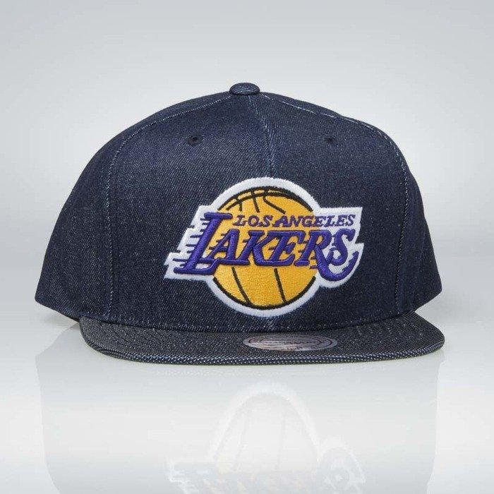 5e63b0b44 Cap Mitchell & Ness snapback Los Angeles Lakers denim Raw Denim 3T PU