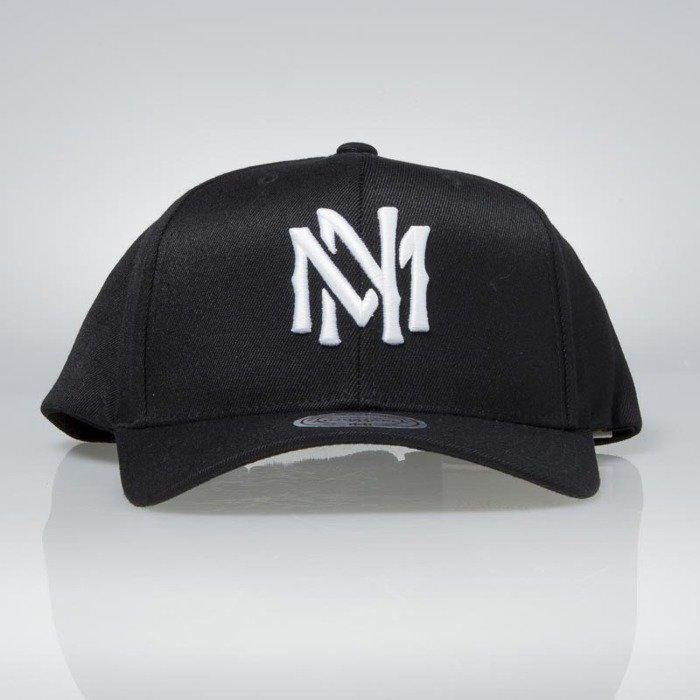 8f6fa3ced2c6d Cap Mitchell   Ness snapback M N Logo black Team Logo High Crown Flexfit  110