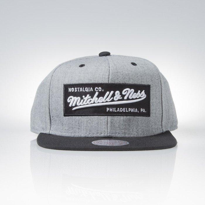 Cap Mitchell   Ness snapback M N Own Brand grey heather   black Box Logo  36167f9a580