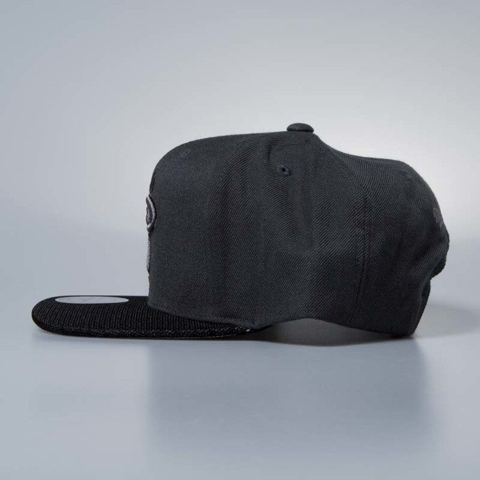 new style c2221 e6cb7 ... Cap Mitchell   Ness snapback Miami Heat charcoal Hologram Mesh Stop On A  Dime ...