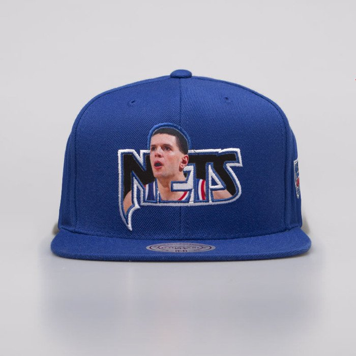 san francisco 514ac 87539 Cap Mitchell & Ness snapback New Jersey Nets-Drazen Petrovic royal Player  Photo High Crown Snapback