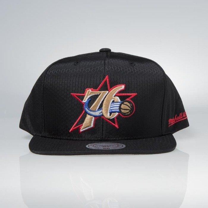 9fc184b4d40 Cap Mitchell   Ness snapback Philadelphia 76ers black Black Ripstop  Honeycomb