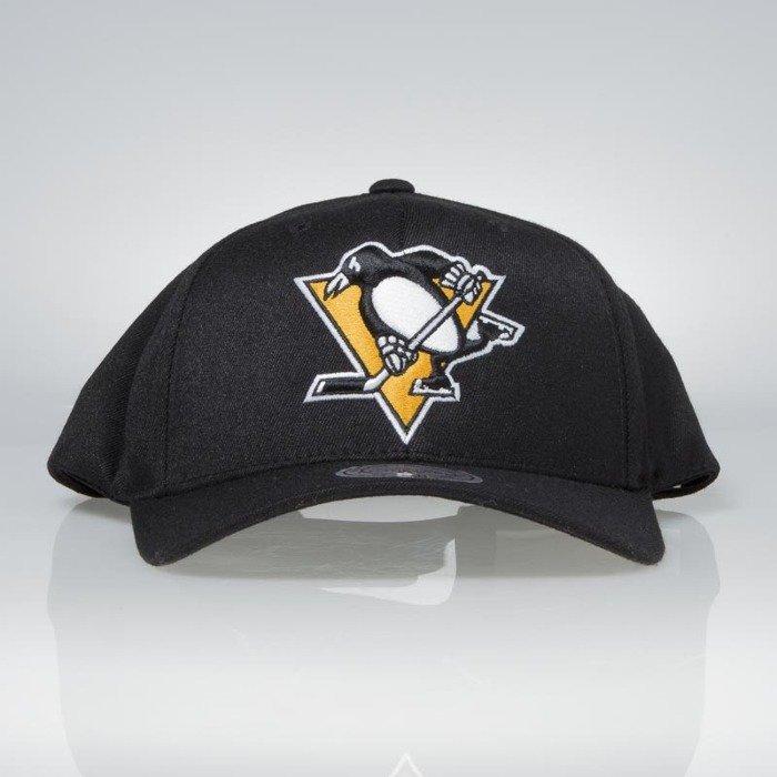 Cap Mitchell   Ness snapback Pittsburgh Penguins black Team Logo High Crown  Flexfit 110  4718d9fc87b7