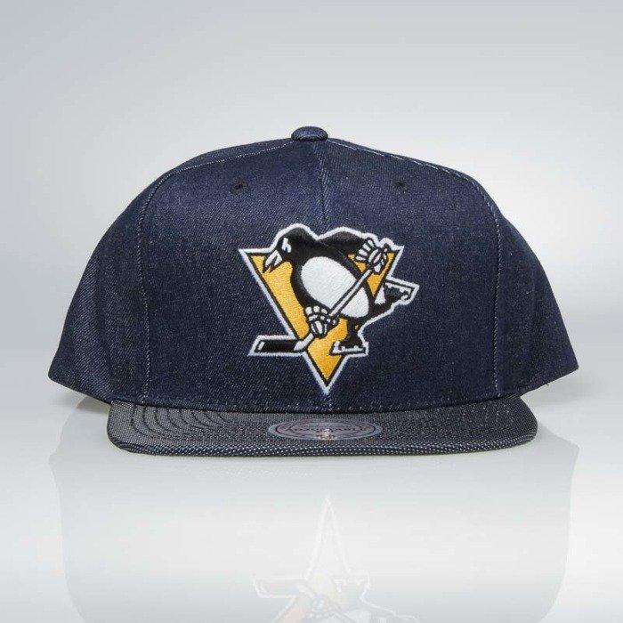 new style 4d53c 33363 Cap Mitchell   Ness snapback Pittsburgh Penguins denim Raw Denim 3T PU    Bludshop.com