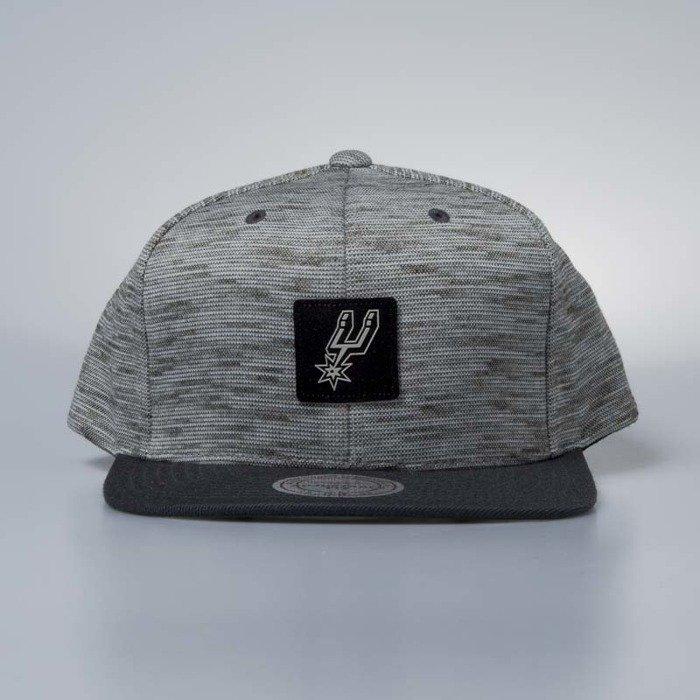 3781ae11dc0 ... Cap Mitchell   Ness snapback San Antonio Spurs grey   black Brushed  Melange ...