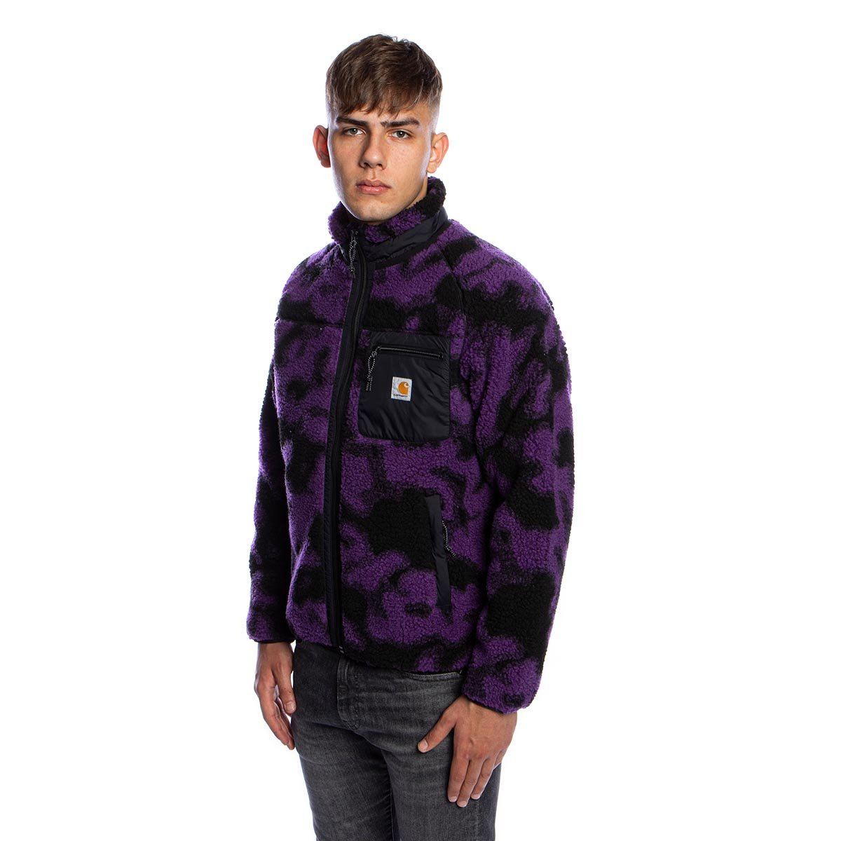Carhartt WIP Prentis liner camo Blur Purple Taille S-XXL Veste Teddy