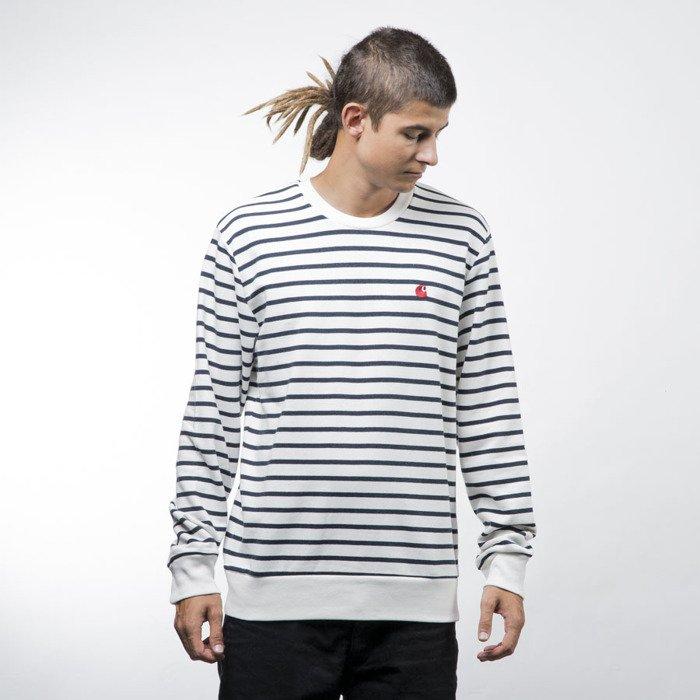 wyprzedaż w sprzedaży kup tanio kup tanio Carhartt WIP Robie Sweatshirt robie stripe, snow / navy