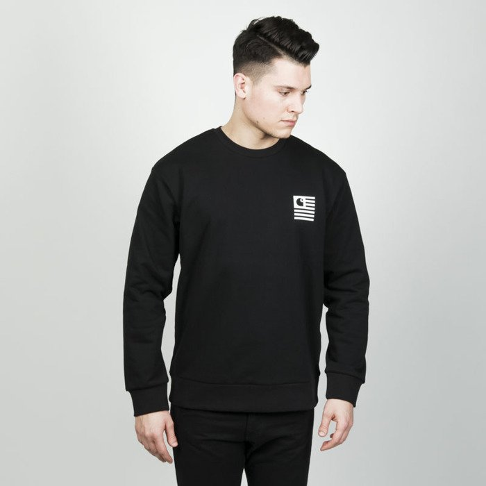 ee018162 Carhartt WIP State Patch Sweat black | Bludshop.com