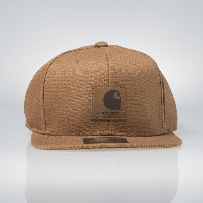 a77168ba5a312 Carhartt WIP snapback Logo Starter Cap hamilton brown