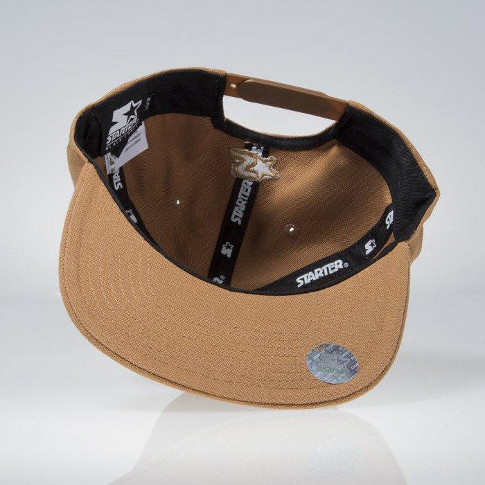 53e5c010510e1 Carhartt WIP snapback Logo Starter Cap hamilton brown ...