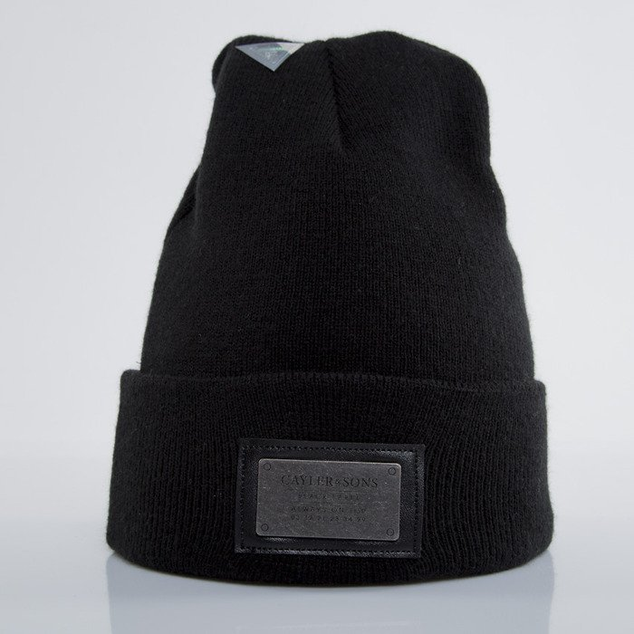 3bf63129745 Cayler   Sons Black Label winter cap Plated Old School Beanie black   black  (BL-CAY-AW15-BN-02-01-OS)