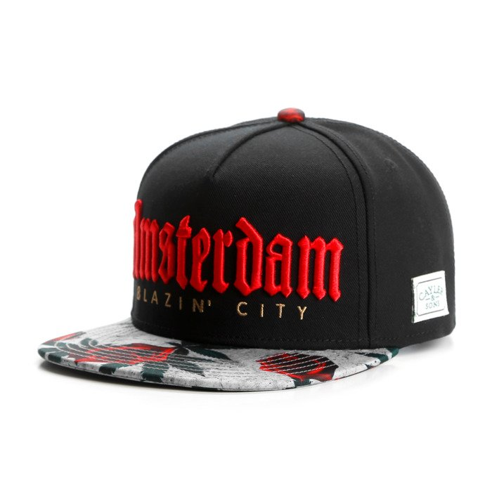 9f465d89d59 Cayler   Sons snapback Amsterdam Cap black   concrete roses   red  GL-CAY-AW16-01