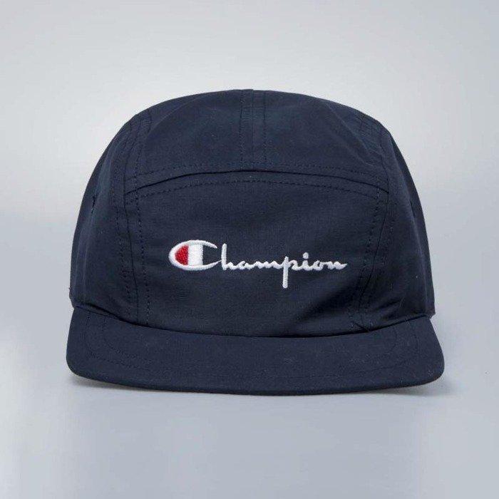 5 Panel Cap With Logo In Navy - Navy Champion WJ5tcxb