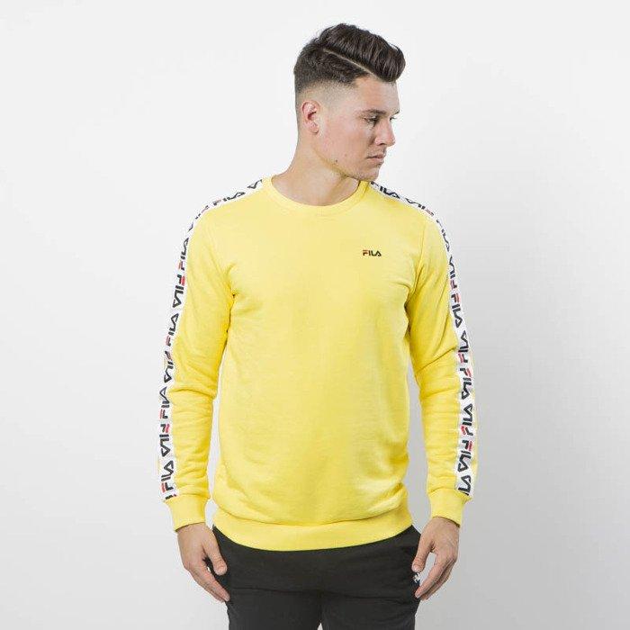 Fila Vibrant Sweatshirt Men Crew Yellow Aren IYf6by7vg