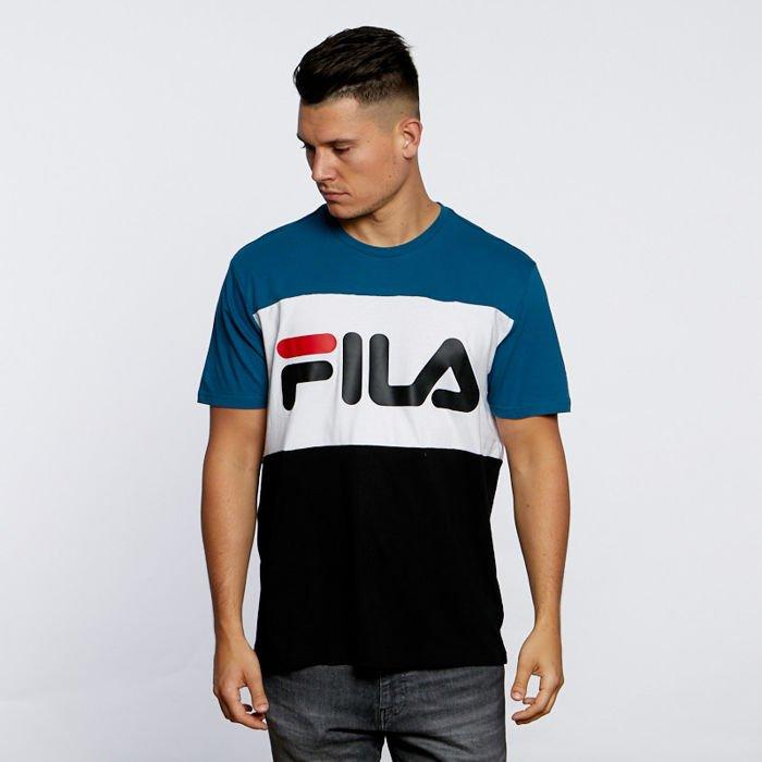 463e8331 Fila T-shirt Men Day Tee black-moroccan blue-bright white