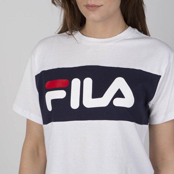e272bc48 Fila WMNS t-shirt Allison Tee bright white-black iris | Bludshop.com