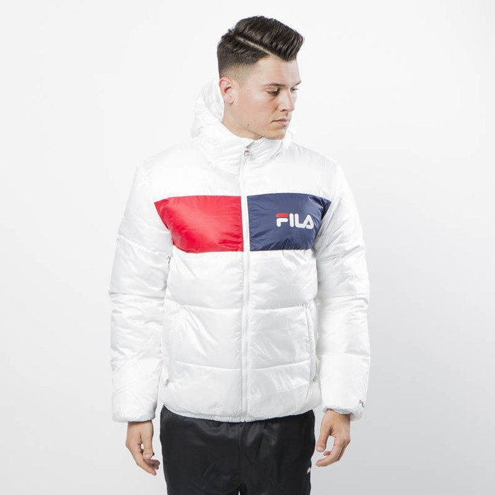 Fila Winter Jacket Floyd Puff Hood Jacket Men bright white