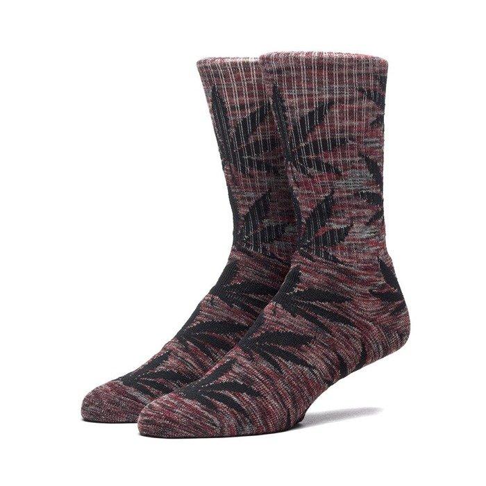 informacje o wersji na sprzedaż usa online klasyczne style HUF Streaky Plantlife Crew Sock maroon / black SK64039