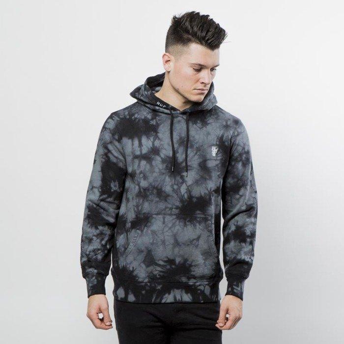 Gdzie mogę kupić zniżka tani HUF sweatshirt Leary Tie Dye Pullover black
