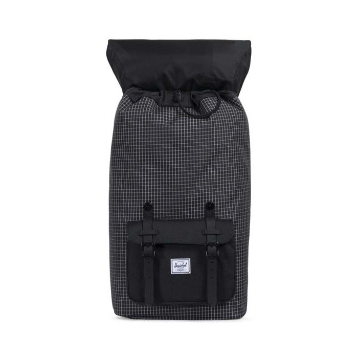 7203c11368 ... Herschel Little America Backpack black gridblack rubber 10014-01579 ...