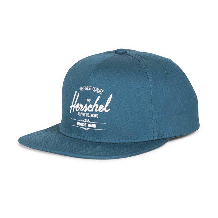 2254340b20c ... Herschel Whaler Snapback Cap washed pale indigo 1026-0364 ...