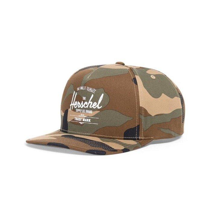 buy popular 91d13 4a0f0 ... coupon code herschel whaler snapback cap woodland camo 1026 0025 b461c  c53fd