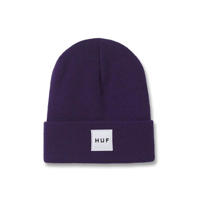 Box Logo Beanie In Purple - Purple HUF tpXcusX