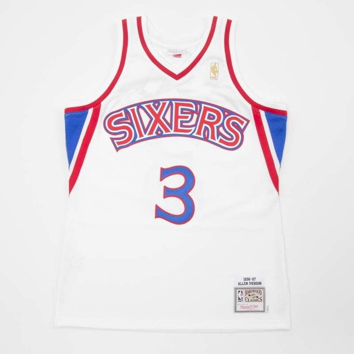 0f258308f Jersey Mitchell   Ness Philadelphia 76ers - Allen Iverson white   red  Authentic Jersey