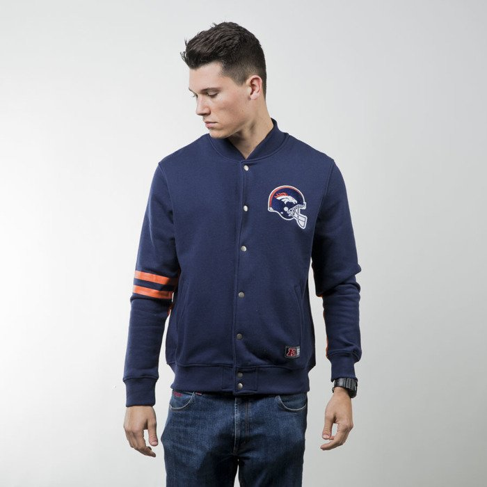 competitive price 4ba55 81183 Majestic Athletic Emodin Fleece Letterman Jacket Denver Broncos navy  MDB2360ND