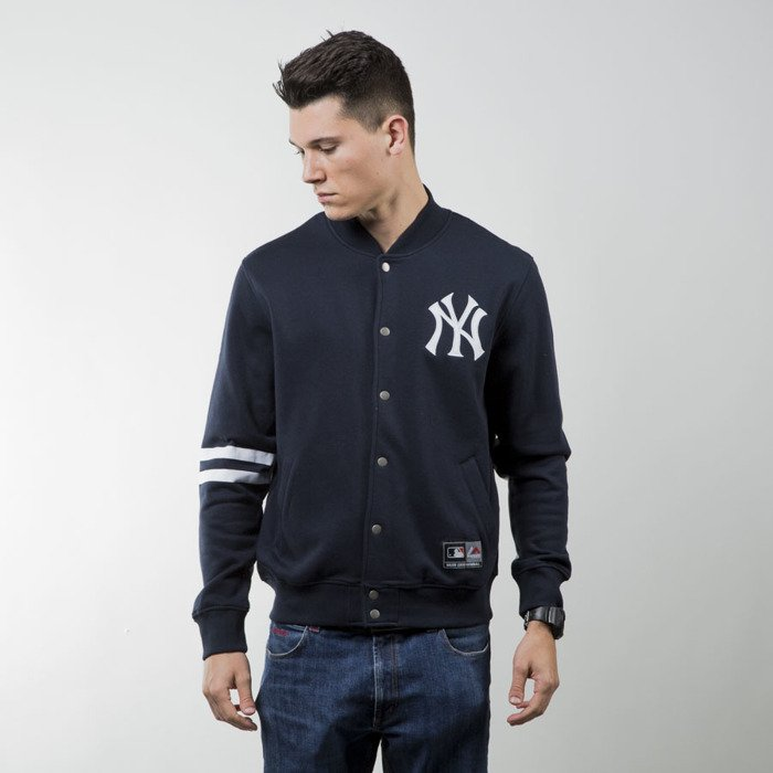 023f71704 ... Majestic Athletic Emodin Fleece Letterman Jacket New York Yankees navy  MNY2360NL ...