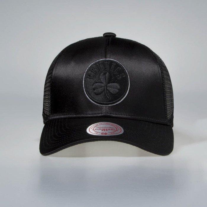Mitchell   Ness Boston Celtics Cap black Satin Trucker  00feed5aaed