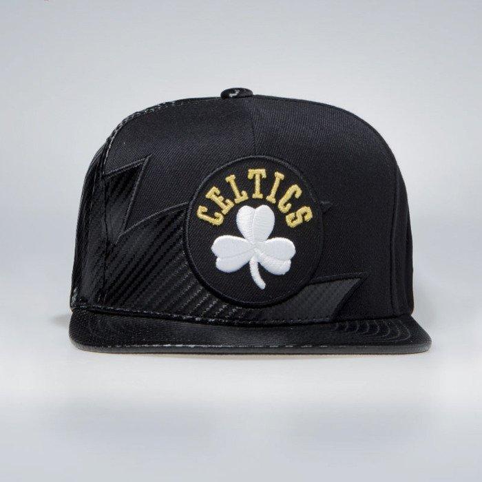 3121bf077 Mitchell & Ness Boston Celtics Snapback Cap black NBA Kevlar Sharktooth  Snapback