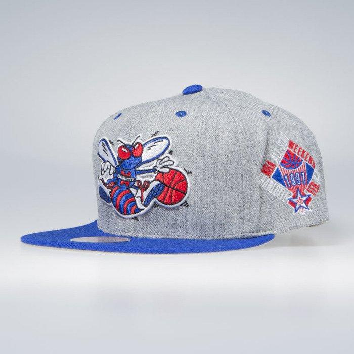 7ba12517b1ce5d ... Mitchell & Ness Charlotte Hornets All Star 1991 Snapback Cap grey The  Score Snapback ...