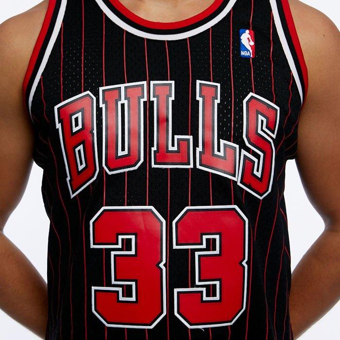 New Black Chicago Bulls #33 Scottie Pippen Swingman Basketball Jerseys