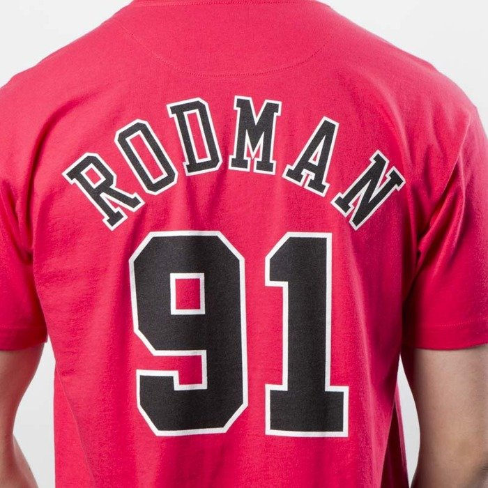 huge discount e52d2 e317b Mitchell & Ness Chicago Bulls #91 Dennis Rodman T-shirt red Name & Number  Traditional