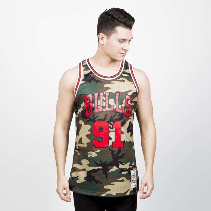 50fe38791 Mitchell & Ness Chicago Bulls #91 Dennis Rodman camo Swingman Jersey |  Bludshop.com