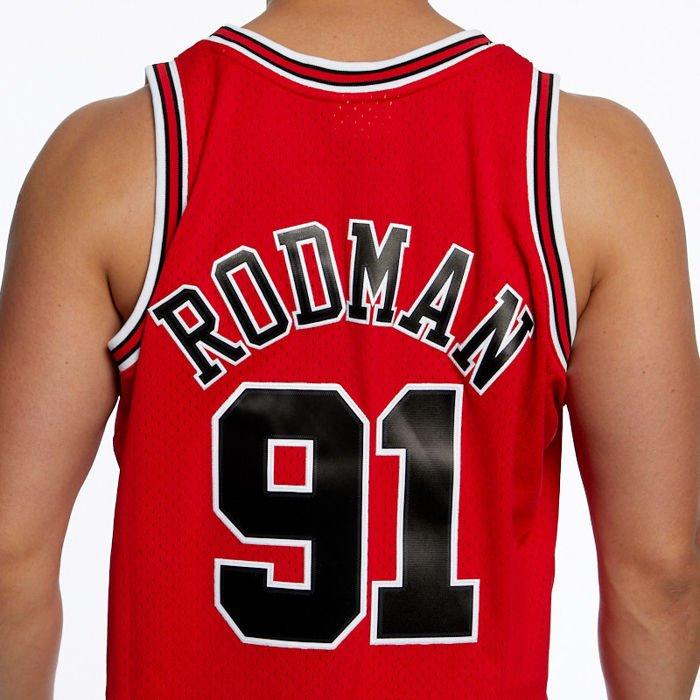 DSFF Pippen y Rodman Basketball Jersey Bulls 33# 91# Bordado denso Vintage Top de Baloncesto Bordado sin Mangas Retro Unisex