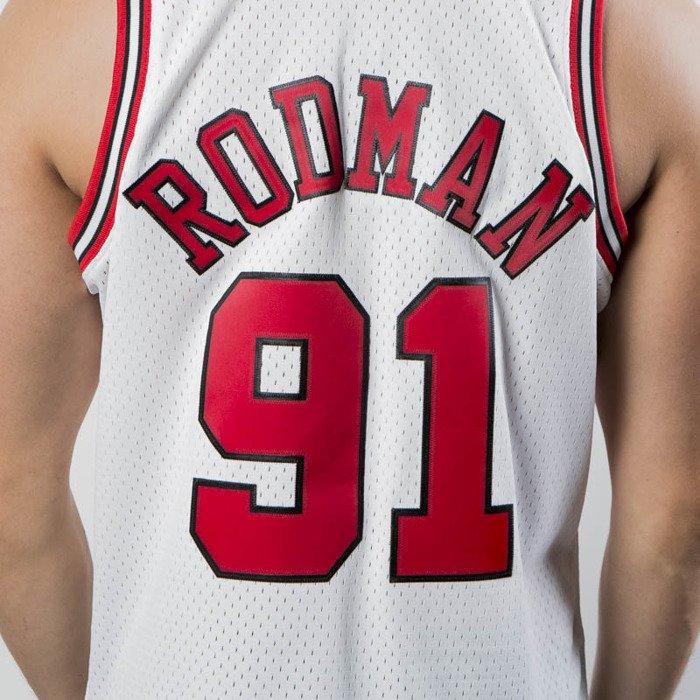 pretty nice aa3c0 9b28c Mitchell & Ness Chicago Bulls #91 Dennis Rodman white Swingman Jersey