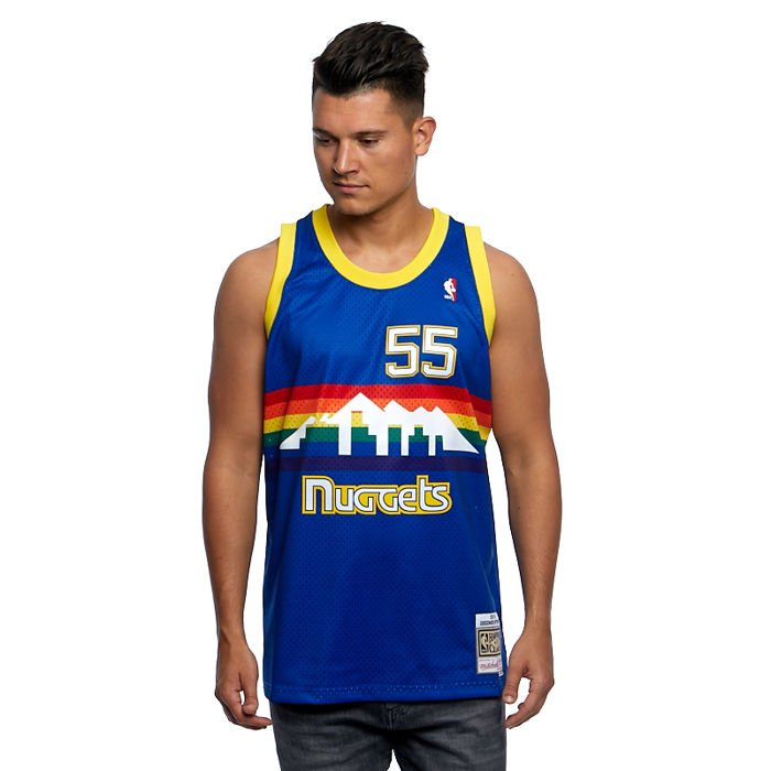 Dikembe Mutombo 55# Denver Nuggets Basketball Jersey Youth Sleeveless breathable mesh Vest S-2XL Mens Embroidered Basketball Uniform Swingman sportswear