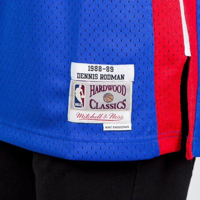 384b9d0562c Mitchell & Ness Detroit Pistons #10 Dennis Rodman blue/red Swingman Jersey  ...