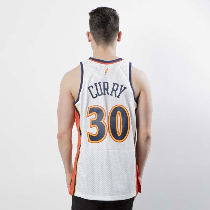 a36dff180c3 ... authentic mitchell ness golden state warriors 30 stephen curry white  orange swingman jersey 315ed cd73f