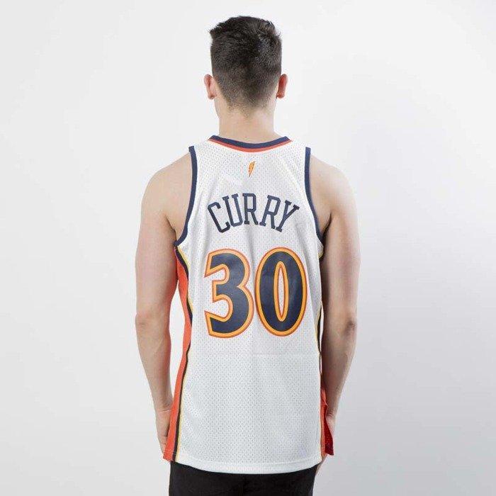da5f95844 authentic mitchell ness golden state warriors 30 stephen curry white orange  swingman jersey 315ed cd73f