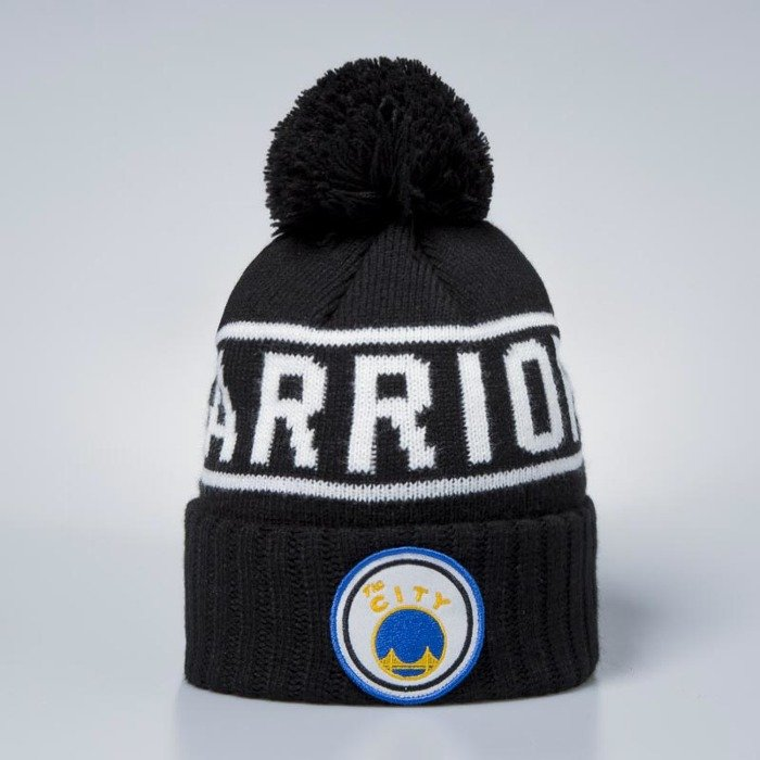 57a0fba6 Mitchell & Ness Golden State Warriors Beanie black / white Glow In The Dark Pom  Knit | Bludshop.com