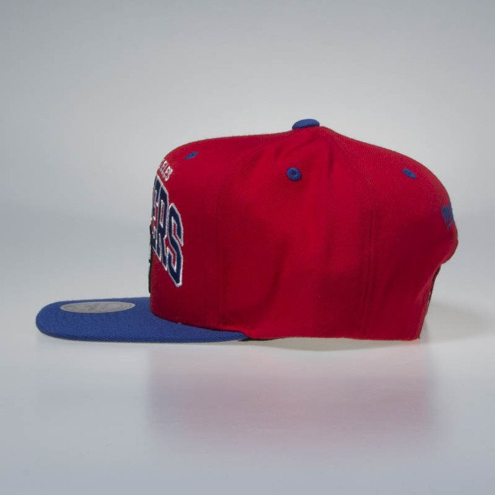 af3d429ceea ... Mitchell   Ness Los Angeles Clippers Snapback Cap red   royal Team Arch  ...