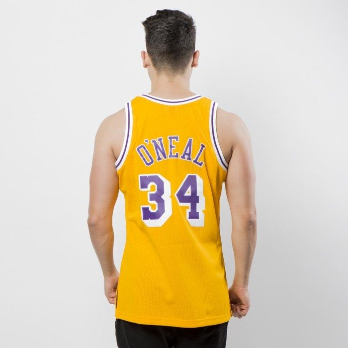 7e8e413d2 ... Mitchell   Ness Los Angeles Lakers  34 Shaquille O Neal yellow Swingman  Jersey ...