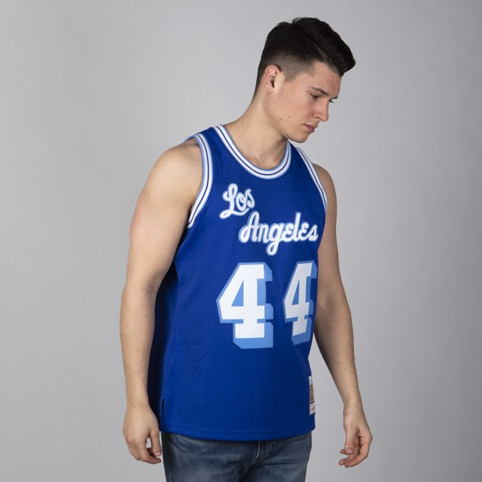Mitchell & Ness Los Angeles Lakers #44 Jerry West royal Swingman Jersey
