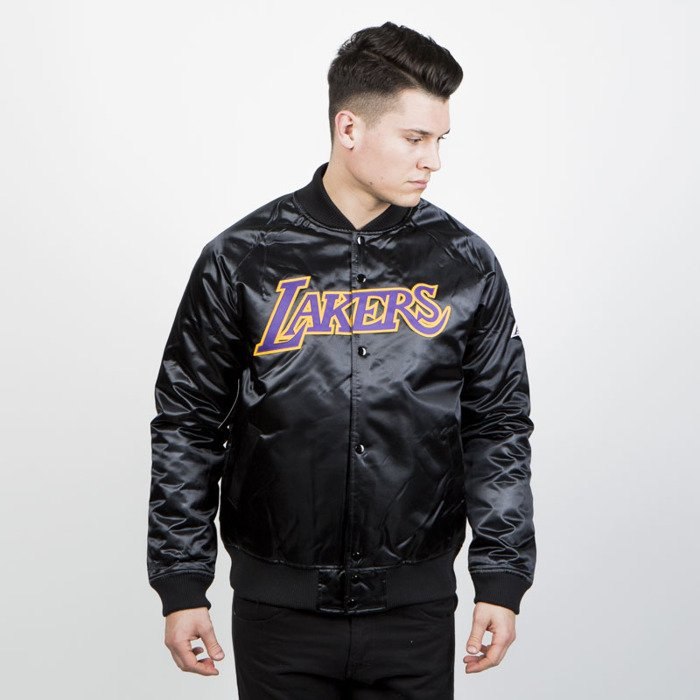 timeless design bce9b 85db6 Mitchell   Ness Los Angeles Lakers Jacket black NBA Satin Jacket Tonal    Bludshop.com
